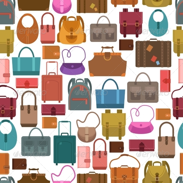 GraphicRiver Bags Colored Seamless Pattern 8766573