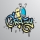 Graffiti Word Character Print - GraphicRiver Item for Sale
