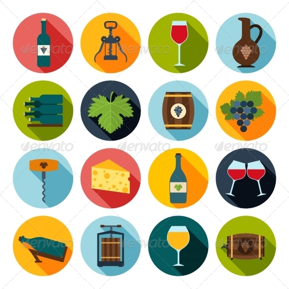 GraphicRiver Wine Icons Set 8766585