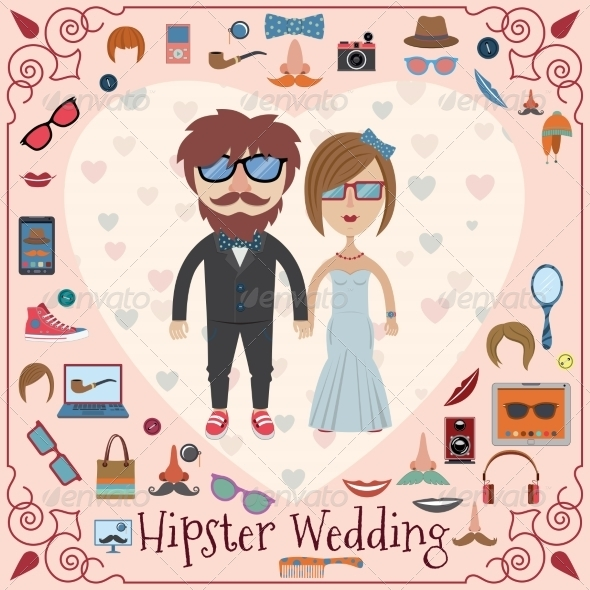 GraphicRiver Hipster Wedding Card 8766591