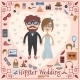 Hipster Wedding Card - GraphicRiver Item for Sale