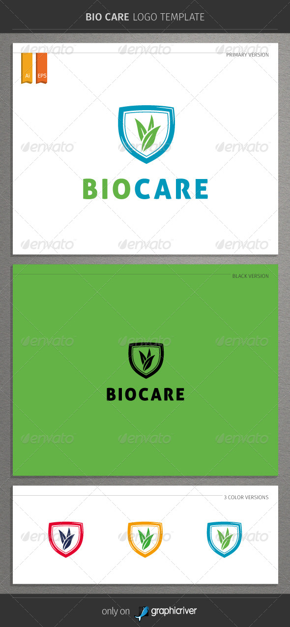 GraphicRiver Bio Care Logo 8766679