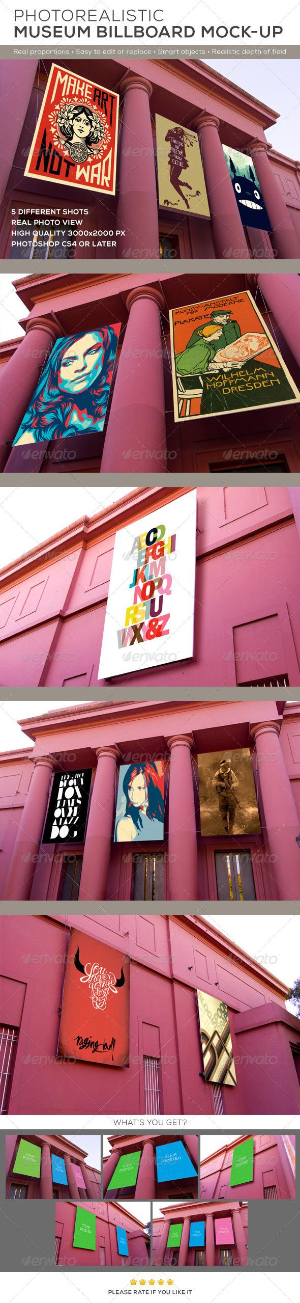 GraphicRiver Museum Billboard Exhibition Mock-Ups 8766696