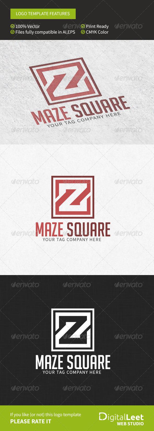 GraphicRiver Maze Square Z Letter Logo Template 8766712