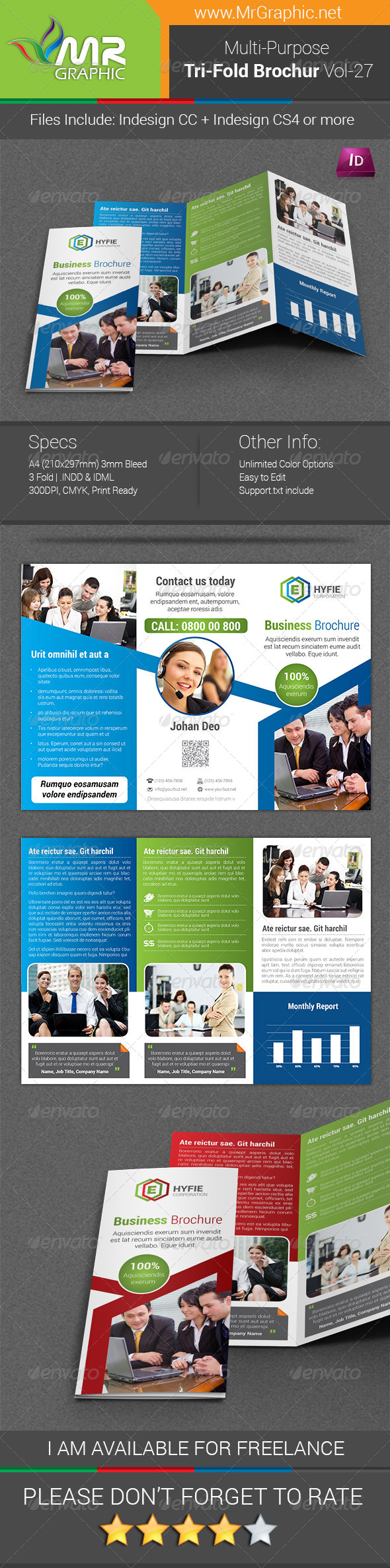 GraphicRiver Multipurpose Business Tri-Fold Brochure Vol-27 8766790