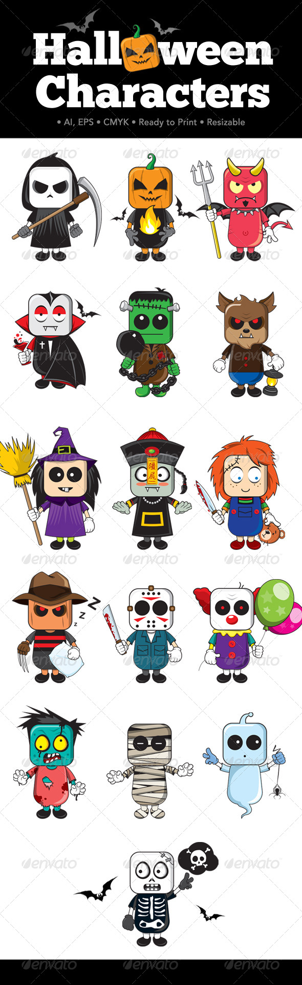 GraphicRiver Halloween Characters 8757487