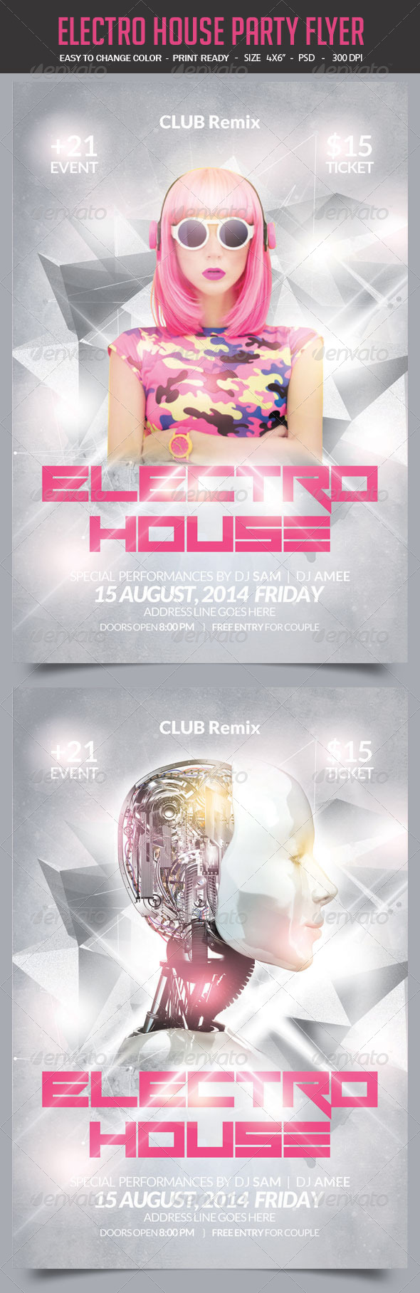 GraphicRiver Electro House Party Flyer 8766903