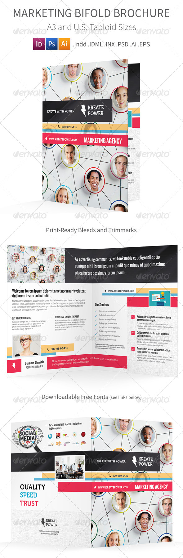 GraphicRiver Marketing Bifold Halffold Brochure 8766904