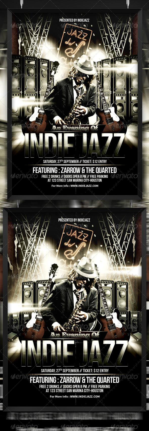 GraphicRiver Indie Jazz Blues Flyer Template 8767091
