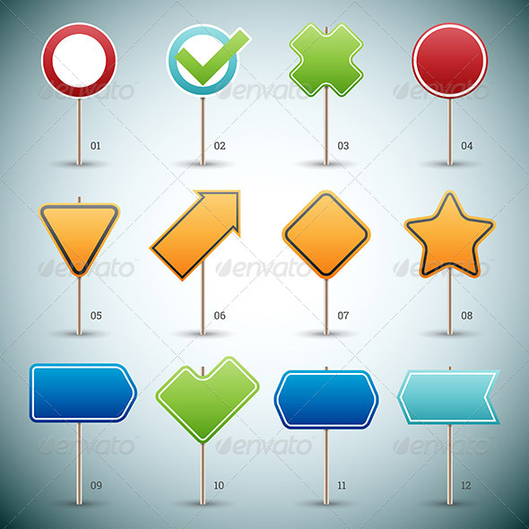 GraphicRiver Road Signs 8767126