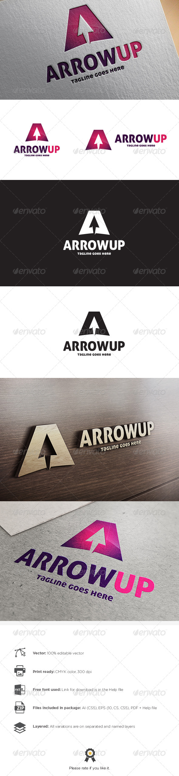 GraphicRiver Arrow Up Logo 8767152