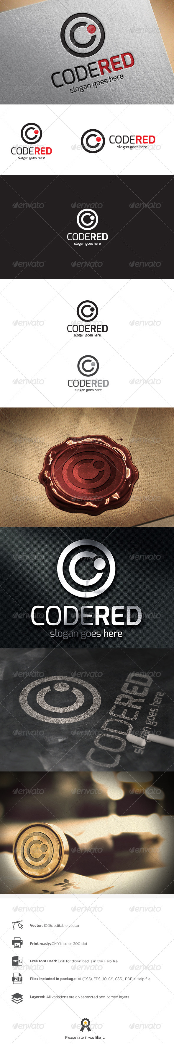 GraphicRiver Code Red Logo 8767184