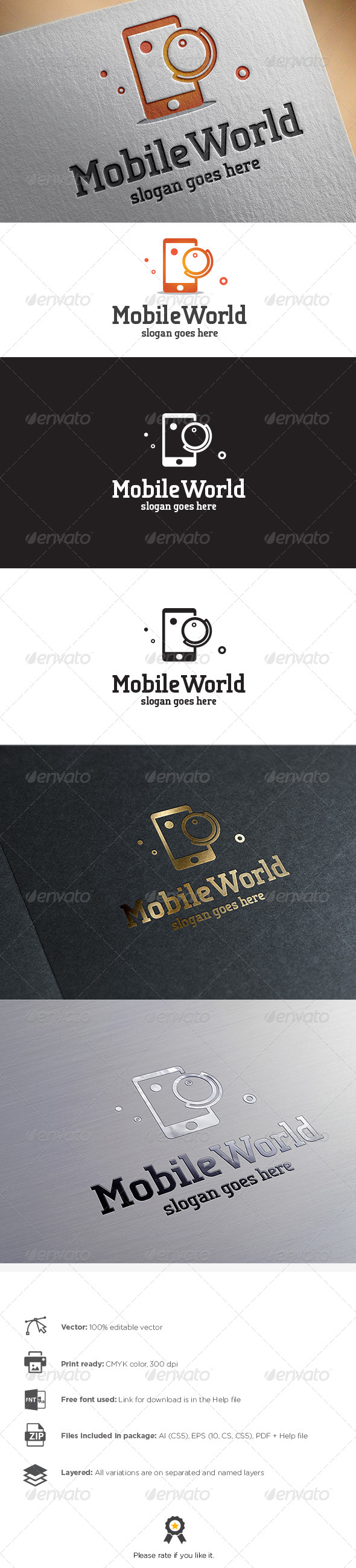 GraphicRiver Mobile World Logo 8767203
