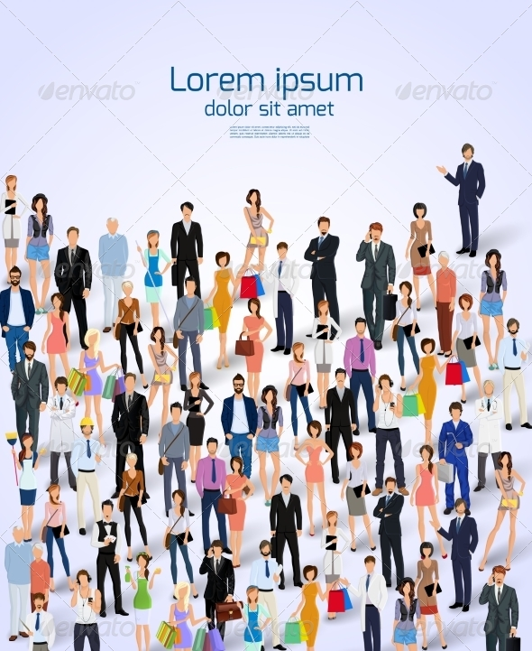 GraphicRiver Group of People Poster 8767370