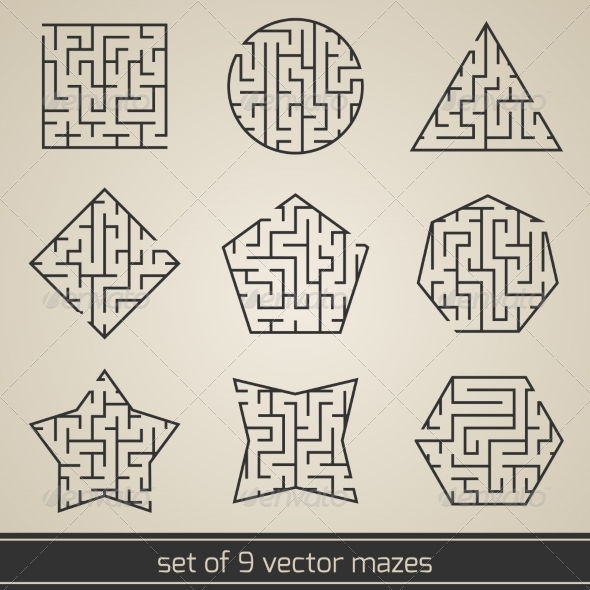 GraphicRiver Maze Labyrinth Set 8767379