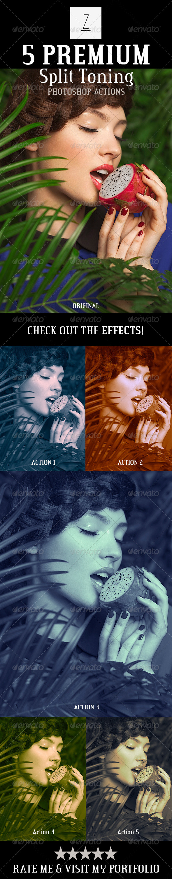 GraphicRiver 5 Premium Split Toning Actions 8767402