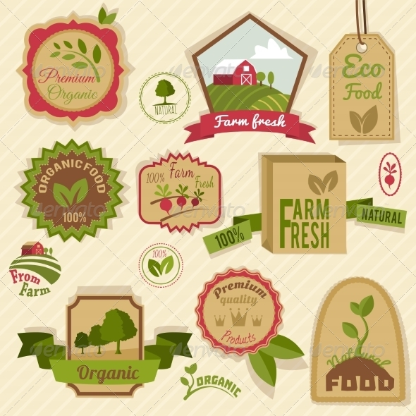GraphicRiver Vintage Organic Labels 8767407