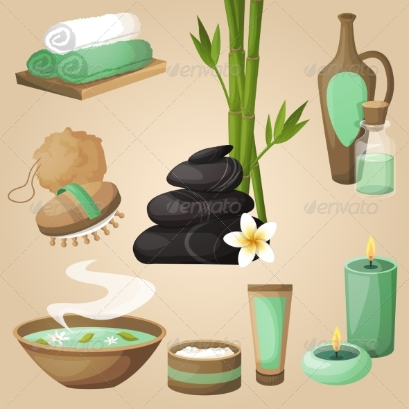 GraphicRiver Spa Icons Concept 8767414