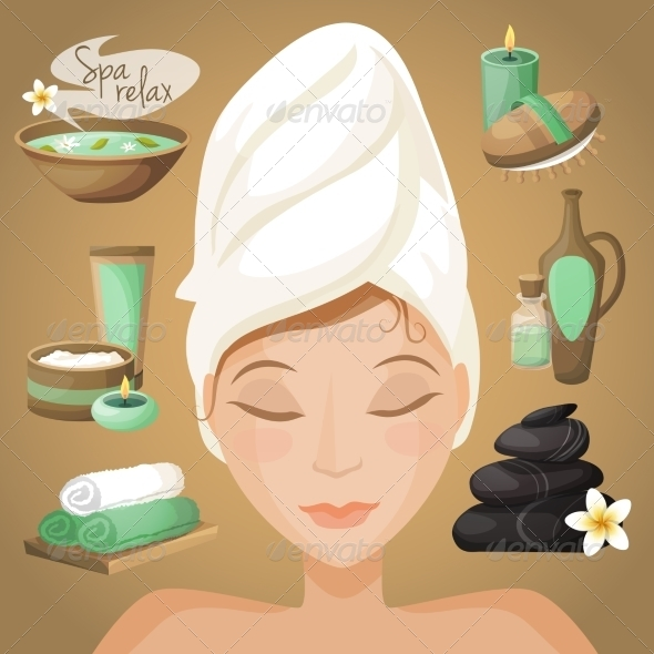 GraphicRiver Woman in Spa 8767416