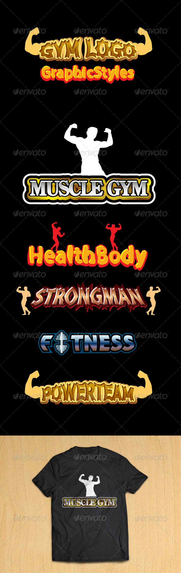GraphicRiver Ai Gym Logo Graphic Styles 8767417