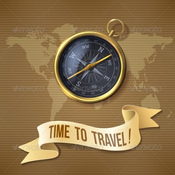 GraphicRiver Black Compass Background 8767515