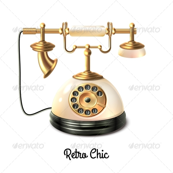 GraphicRiver Retro Style Telephone 8767523