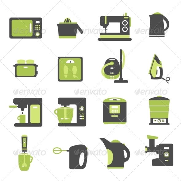 GraphicRiver Icons with Kitchen Utensils 8767728