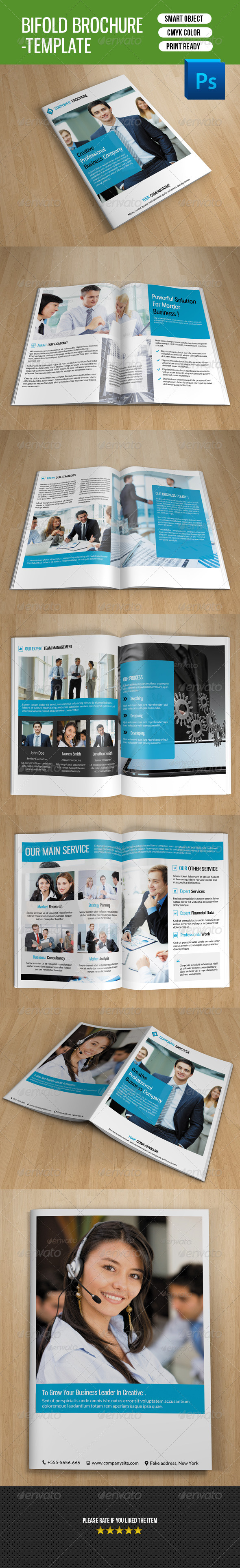 GraphicRiver Bifold Brochure for Business-V120 8767729