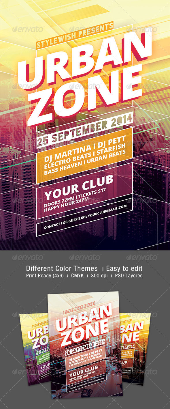 GraphicRiver Urban Zone Flyer 8768110