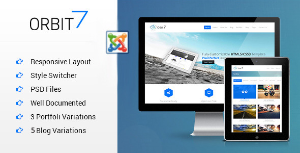 ThemeForest Orbit7 Multipurpose Responsive Joomla Template 8768140