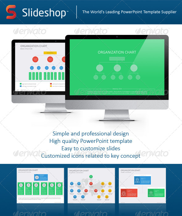 GraphicRiver Organizational Chart Flat 8768178