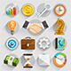 Business Flat Icons Color Set. - GraphicRiver Item for Sale