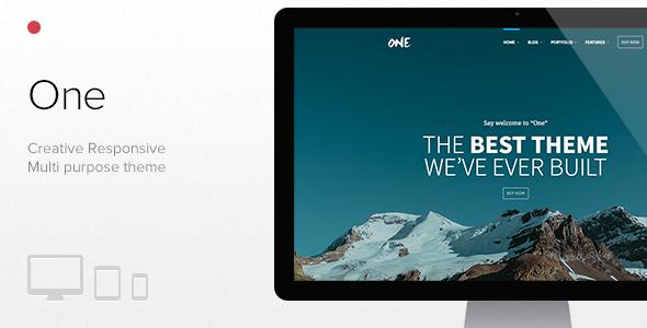 One - The Creative Multipurpose Portfolio theme - Creative WordPress