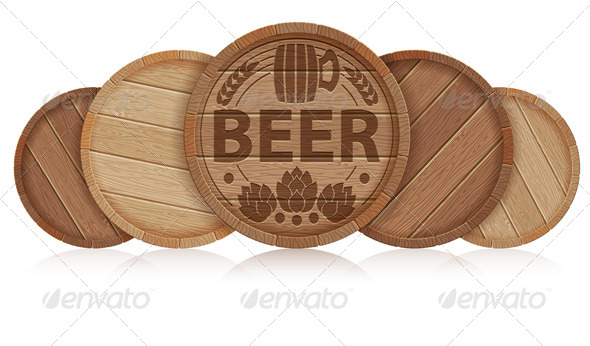 GraphicRiver Barrels of Beer 8768493