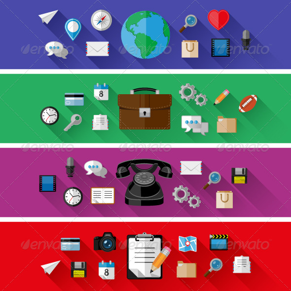 GraphicRiver Set of Web and Business Concepts 8768630