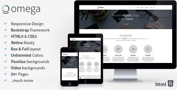 Omega - Multi Purpose Bootstrap HTML Template - Business Corporate