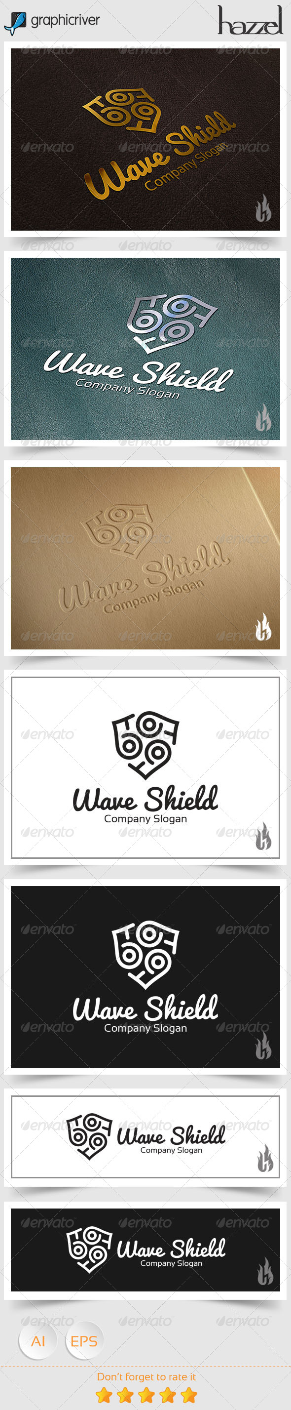 GraphicRiver Wave Shield Logo 8768754
