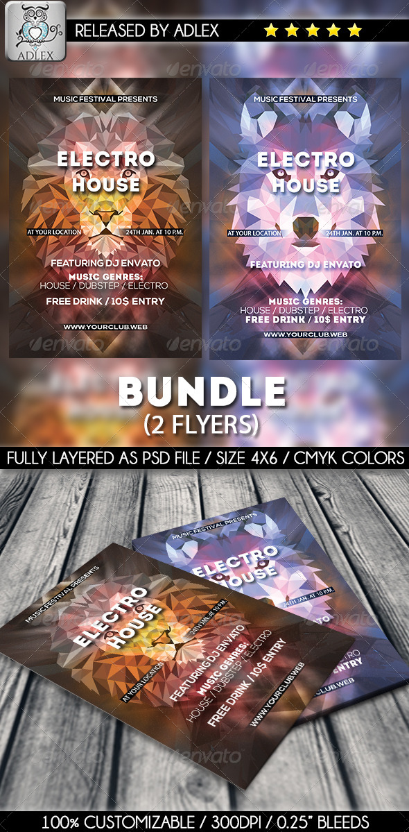 GraphicRiver Minimalistic Bundle Lion and Wolf 8768759