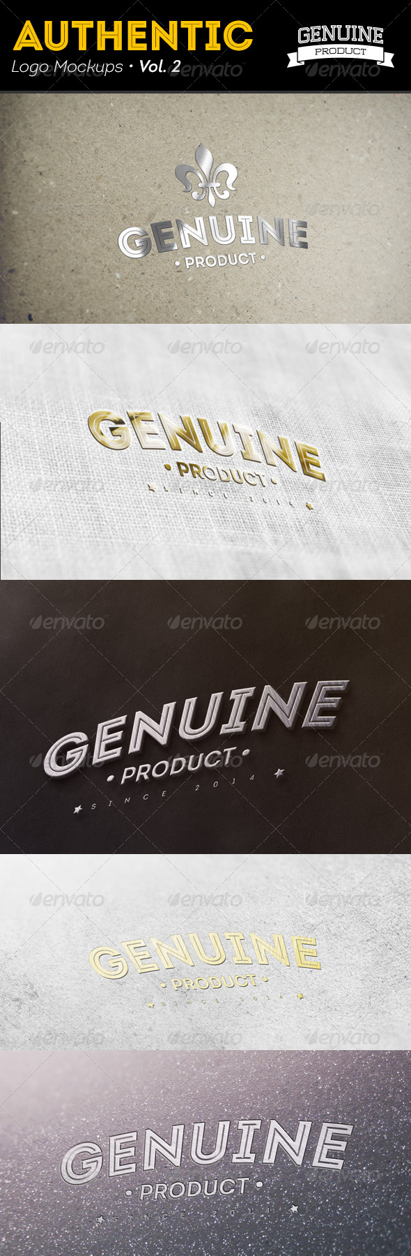 Authentic Logo Mockups Vol. 2 - Logo Product Mock-Ups
