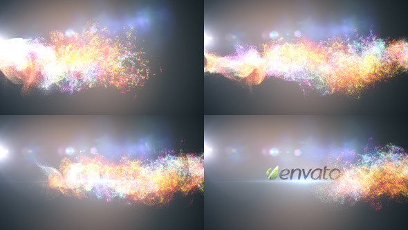 Glowing Particles Logo Reveal 3