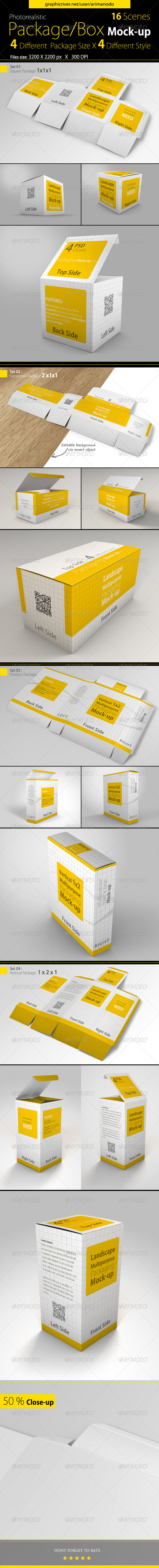 GraphicRiver Multipurpose Package Box Mock-ups 8769181