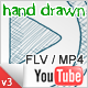 Hand Drawn Video Player - YouTube / FLV / MP4 - ActiveDen Item for Sale