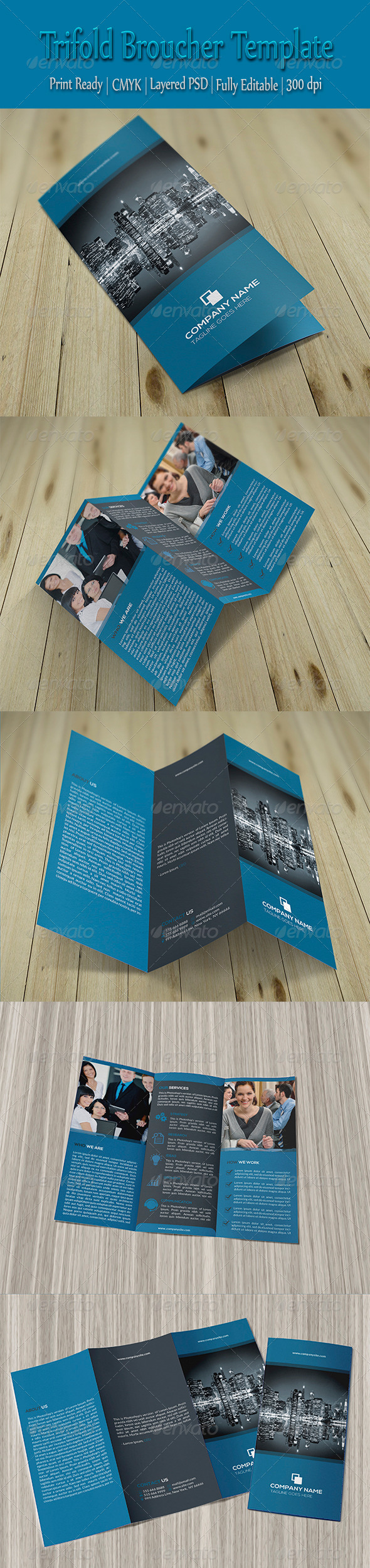 GraphicRiver Trifold Corporate Brochure Template 8769295