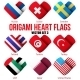 Heart Flag Icons Set - GraphicRiver Item for Sale