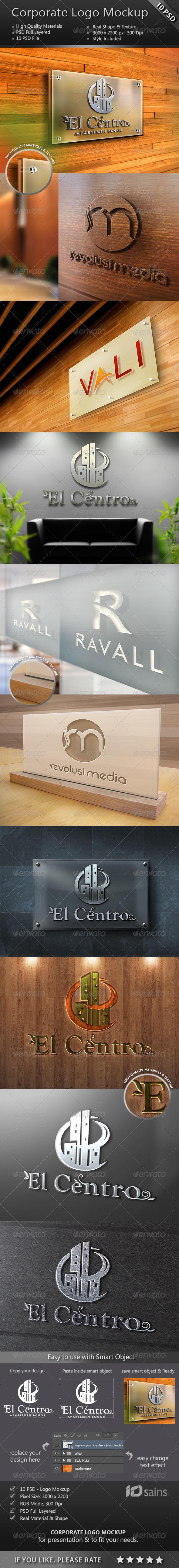 GraphicRiver Corporate Logo Mockup Set 8769471
