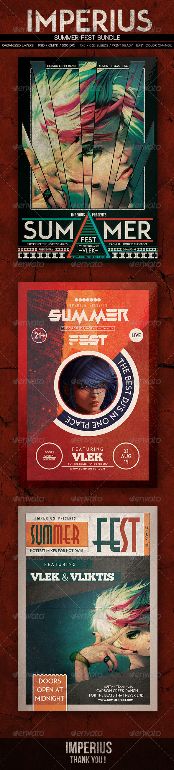 Summer Fest Bundle - Events Flyers
