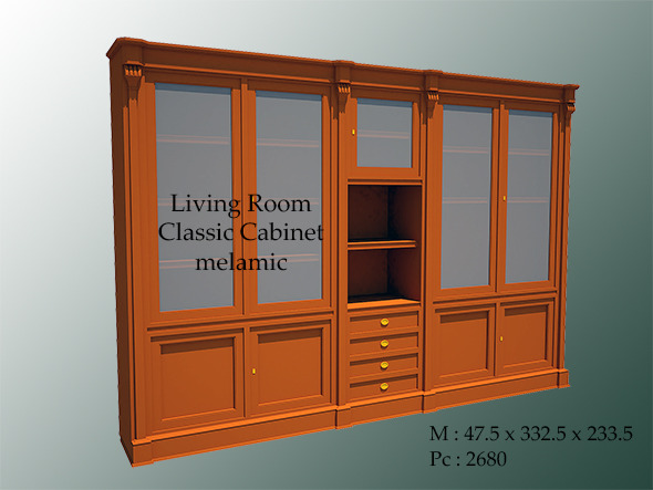 Living Room Classic Cabinet Melamic - 3DOcean Item for Sale