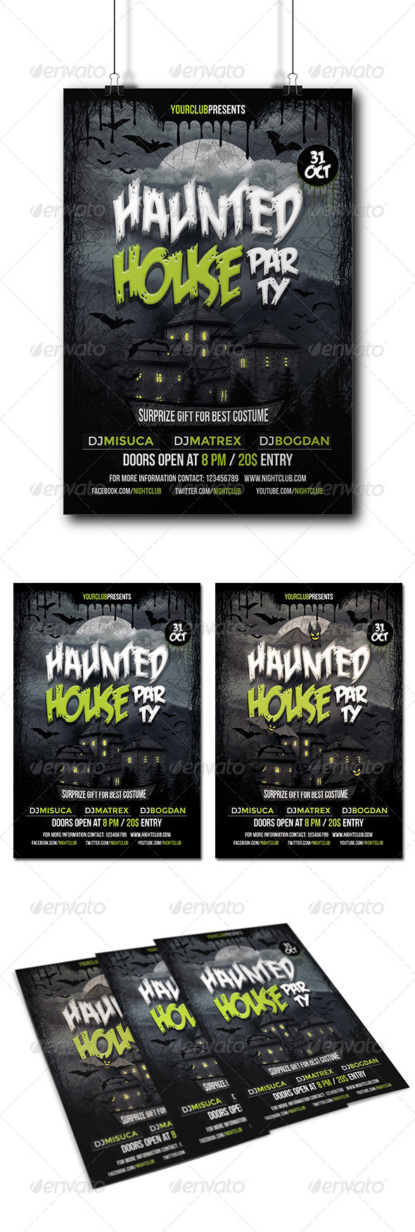 GraphicRiver Halloween Party Flyer 8769844