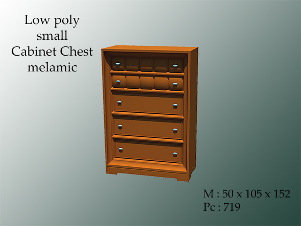 3DOcean Small Cabinet Chest Melamic 8769881