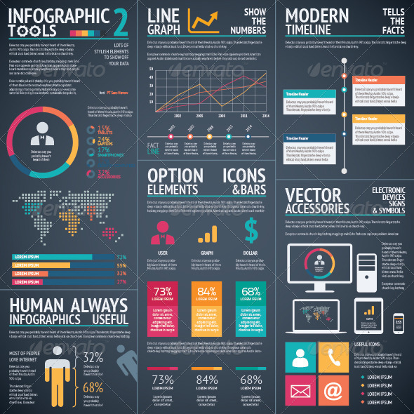 GraphicRiver Infographic Vector Tools 2 Black Background 8769887